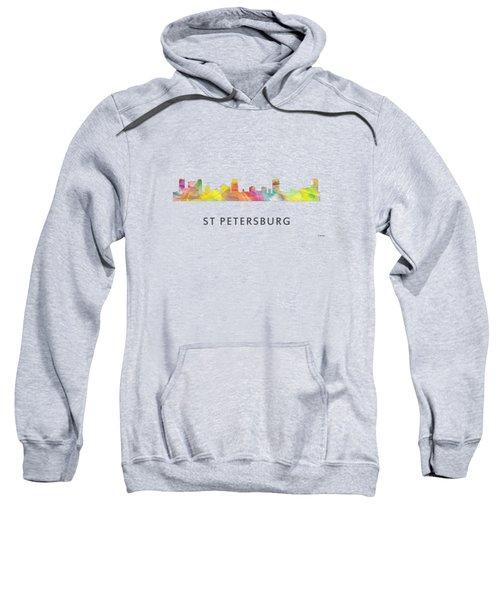 St Petersburg Florida Skyline Sweatshirt by Marlene Watson