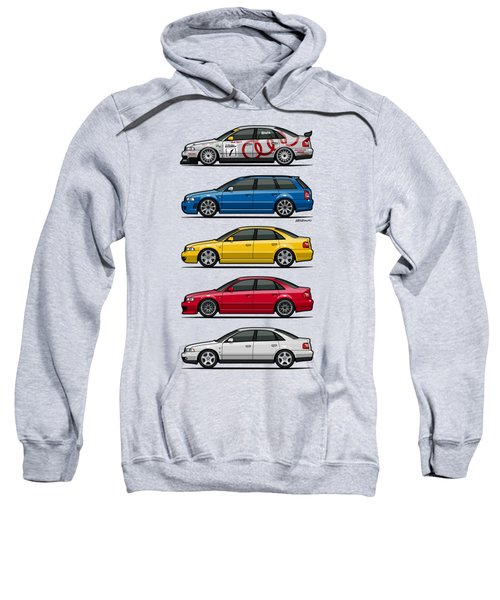 Stack Of Audi A4 B5 Type 8d Sweatshirt by Monkey Crisis On Mars