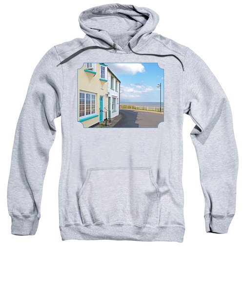 Sunny Outlook - Southwold Seafront Sweatshirt by Gill Billington