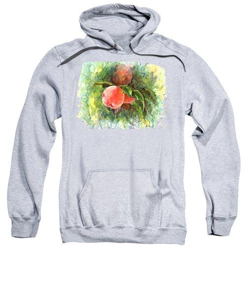Sunny Peaches Sweatshirt by Irina Viatkina