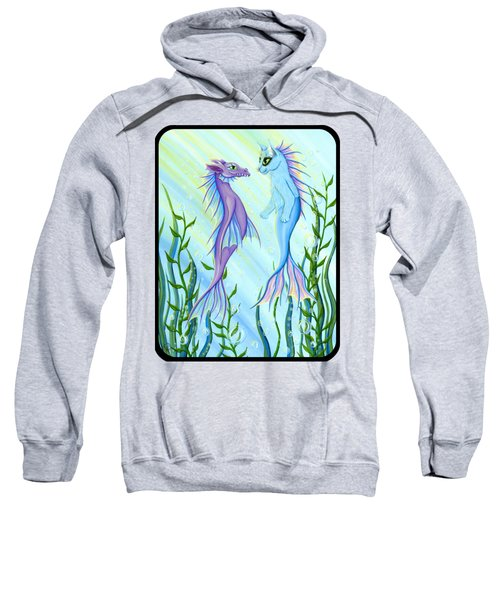 Sunrise Swim - Sea Dragon Mermaid Cat Sweatshirt by Carrie Hawks