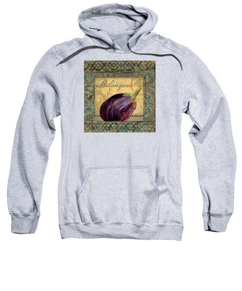 Tavolo, Italian Table, Eggplant Sweatshirt by Mindy Sommers