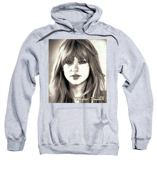 Taylor Swift - Glowing Beauty Sweatshirt by Robert Radmore