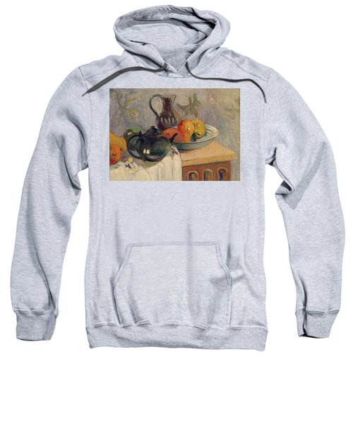 Teiera Brocca E Frutta Sweatshirt by Paul Gauguin