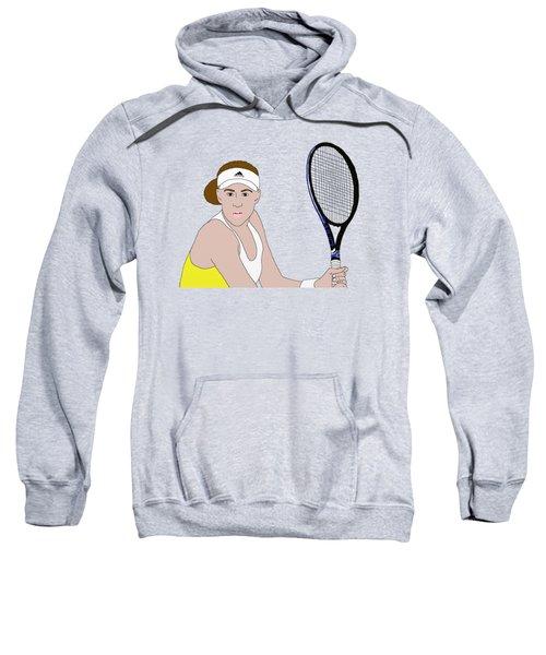 Tennis Player Sweatshirt by Priscilla Wolfe