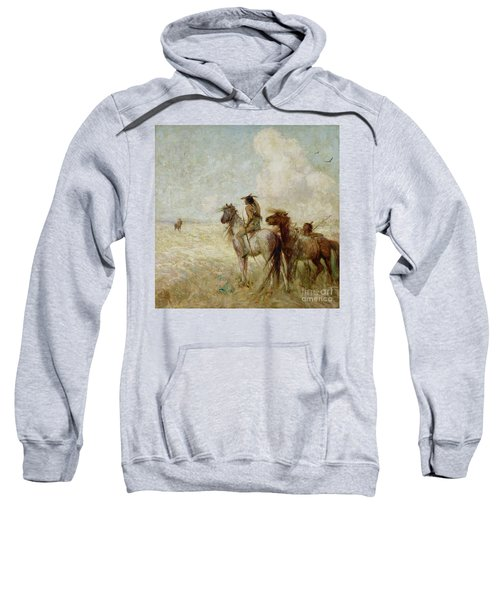 The Bison Hunters Sweatshirt by Nathaniel Hughes John Baird