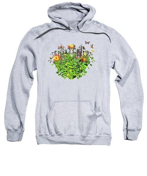 The Flowers Along The Fence  Sweatshirt by Thom Zehrfeld