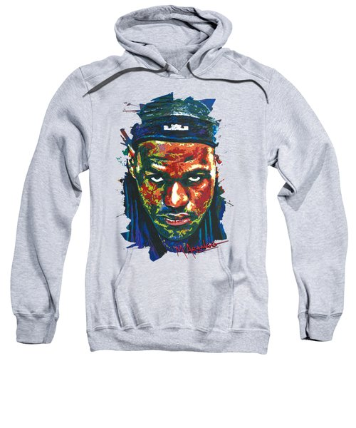The Lebron Death Stare Sweatshirt by Maria Arango