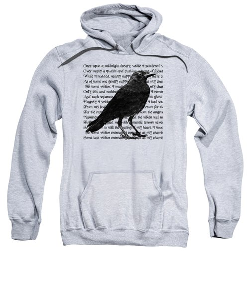 The Raven Poem Art Print Sweatshirt by Sandra McGinley