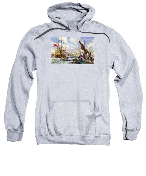 The Tower Of London In The Late 17th Century  Sweatshirt by English School