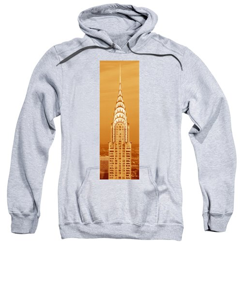 Chrysler Building At Sunset Sweatshirt by Panoramic Images