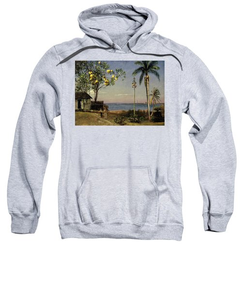 Tropical Scene Sweatshirt by Albert Bierstadt