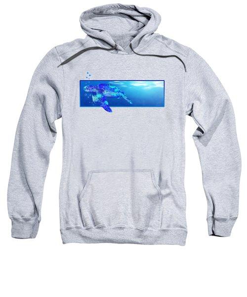 Underwater Sea Turtle Sweatshirt by Chris MacDonald