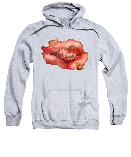 Unicorn Of The Poppies Sweatshirt by Carol Cavalaris