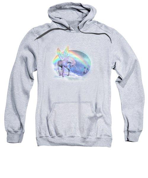 Unicorn Of The Rainbow Sweatshirt by Carol Cavalaris