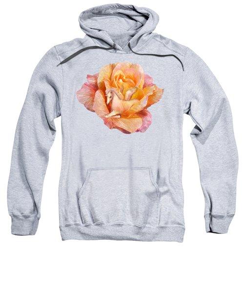 Unicorn Rose Sweatshirt by Carol Cavalaris