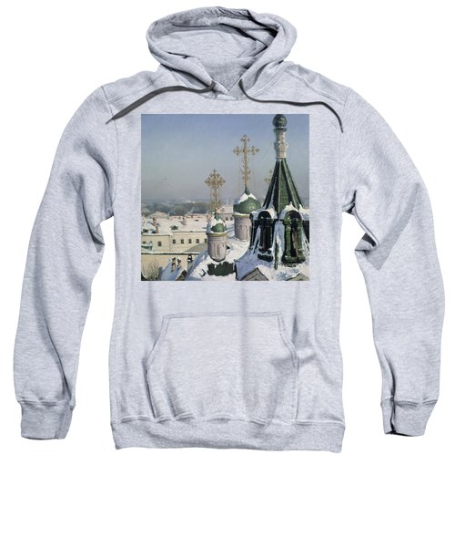 View From A Window Of The Moscow School Of Painting Sweatshirt by Sergei Ivanovich Svetoslavsky
