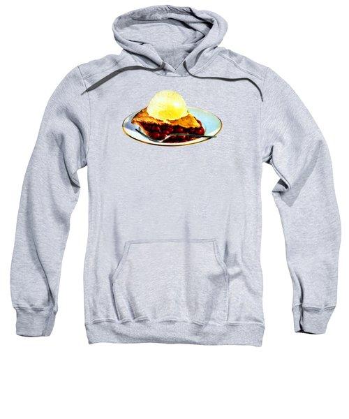 Vintage Pie A La Mode Sweatshirt by Historic Image