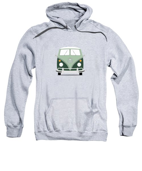 Vw Bus Green Sweatshirt by Mark Rogan