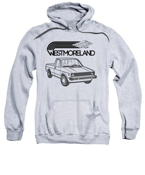 Vw Rabbit Pickup - Westmoreland Theme - Black Sweatshirt by Ed Jackson