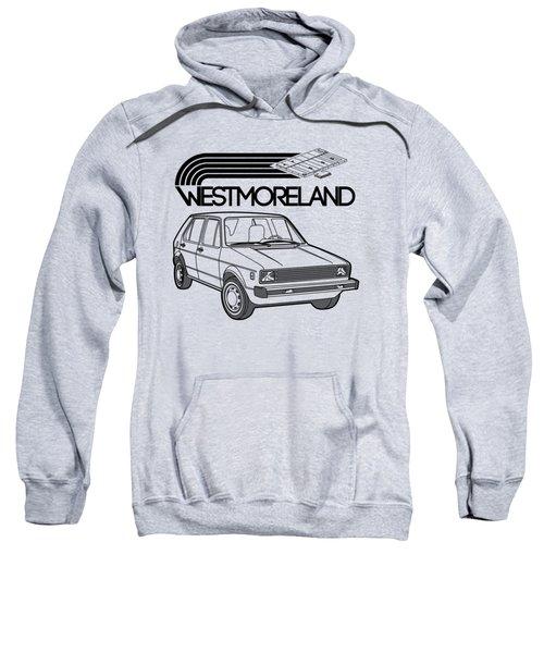 Vw Rabbit - Westmoreland Theme - Black Sweatshirt by Ed Jackson