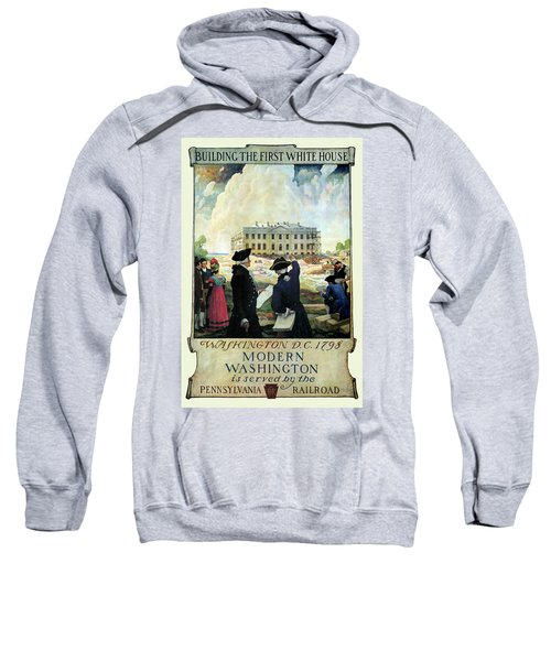 Washington D C Vintage Travel 1932 Sweatshirt by Daniel Hagerman