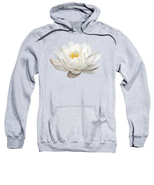 Water Lily Whirlpool Sweatshirt by Gill Billington