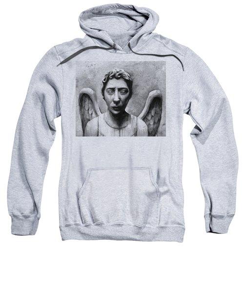 Weeping Angel Don't Blink Doctor Who Fan Art Sweatshirt by Olga Shvartsur