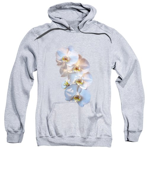 White Orchid Cutout Sweatshirt by Linda Phelps