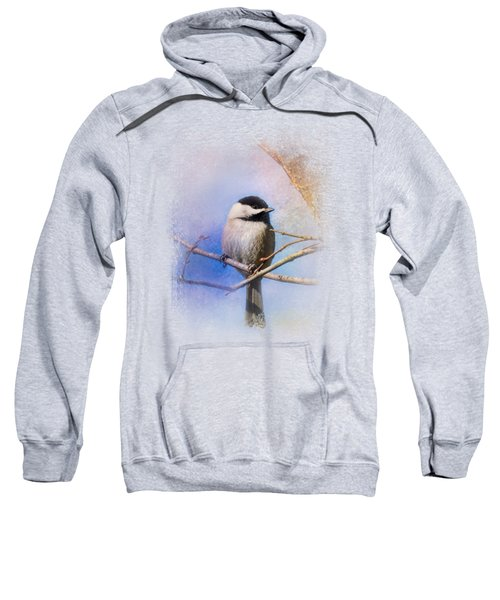 Winter Morning Chickadee Sweatshirt by Jai Johnson