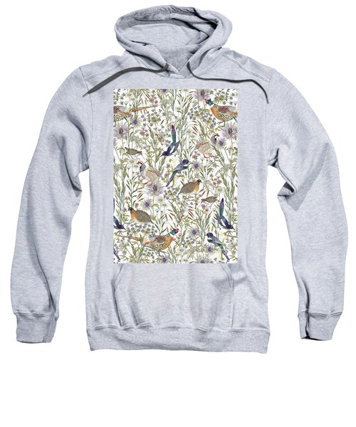 Woodland Edge Birds Sweatshirt by Jacqueline Colley