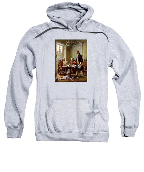 Writing The Declaration Of Independence Sweatshirt by War Is Hell Store