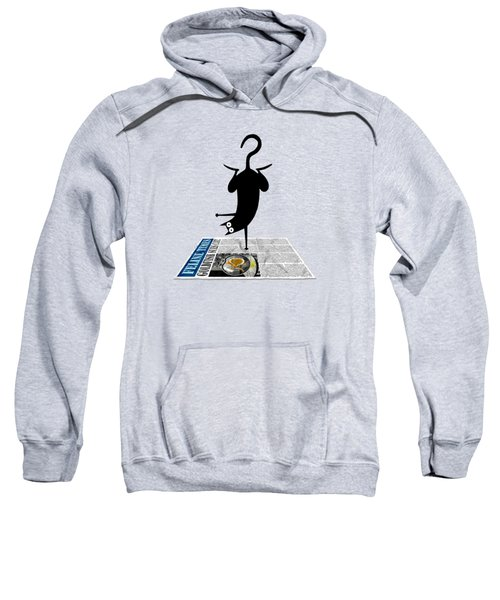 Yoga Mat Sweatshirt by Andrew Hitchen