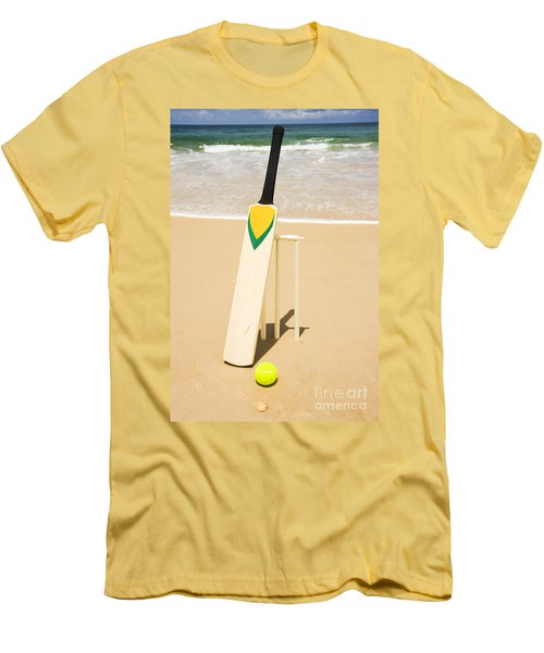 Bat Ball And Stumps Men's T-Shirt (Slim Fit) by Jorgo Photography - Wall Art Gallery