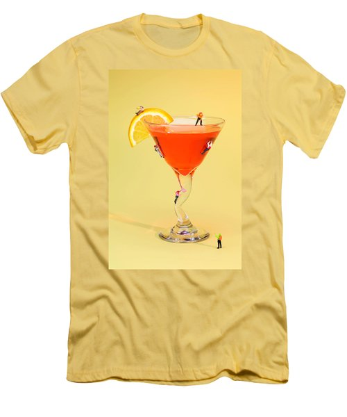 Climbing On Red Wine Cup Men's T-Shirt (Slim Fit) by Paul Ge