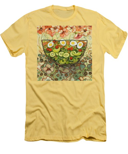 Cool Summer Salad Men's T-Shirt (Slim Fit) by Jen Norton