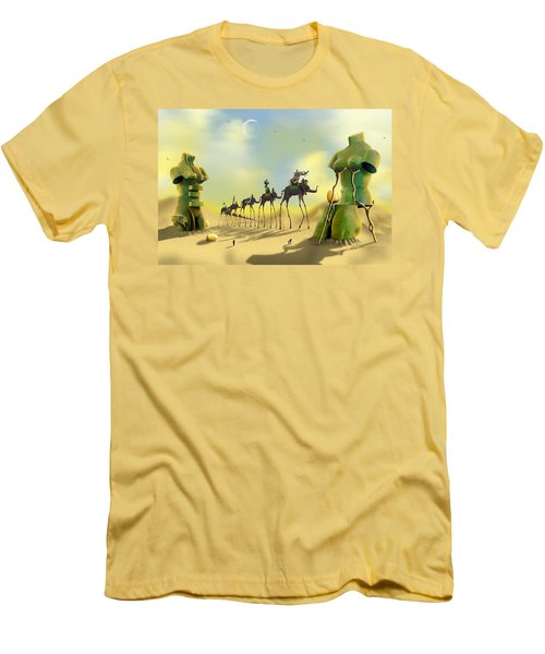 Dali On The Move  Men's T-Shirt (Slim Fit) by Mike McGlothlen