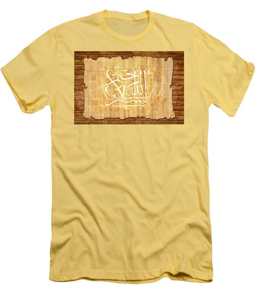 islamic Calligraphy 032 Men's T-Shirt (Slim Fit) by Catf