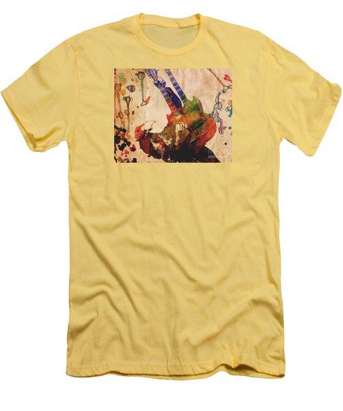 Jimmy Page - Led Zeppelin Men's T-Shirt (Slim Fit) by Ryan Rock Artist
