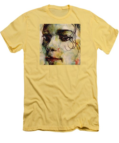 Man In The Mirror Men's T-Shirt (Slim Fit) by Paul Lovering
