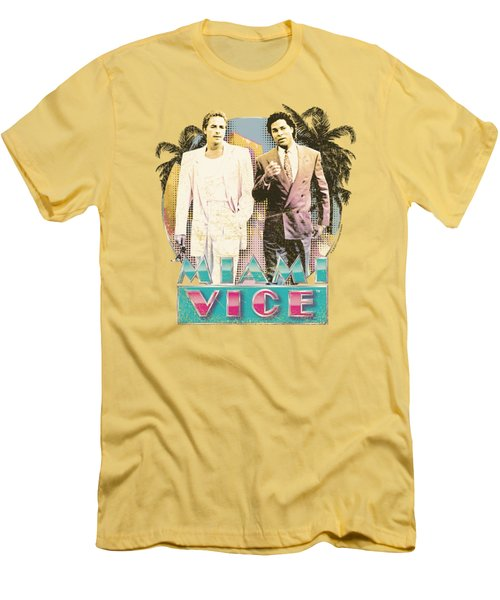 Miami Vice - 80's Love Men's T-Shirt (Slim Fit) by Brand A