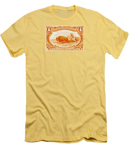 1898 Indian Hunting Buffalo Men's T-Shirt (Slim Fit) by Historic Image