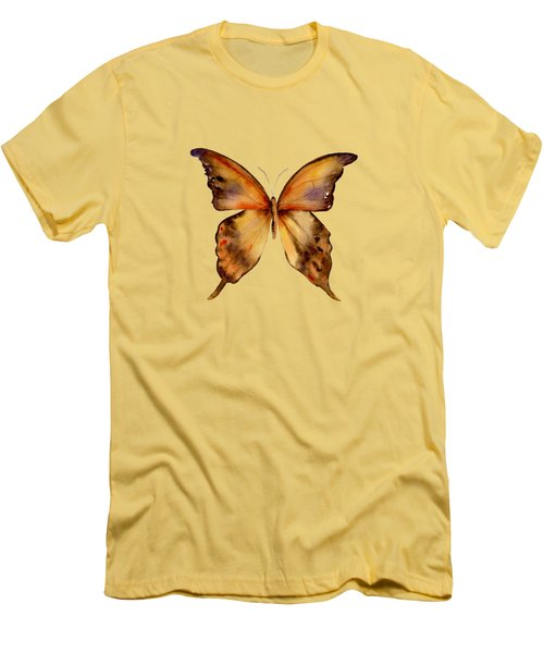 7 Yellow Gorgon Butterfly Men's T-Shirt (Slim Fit) by Amy Kirkpatrick