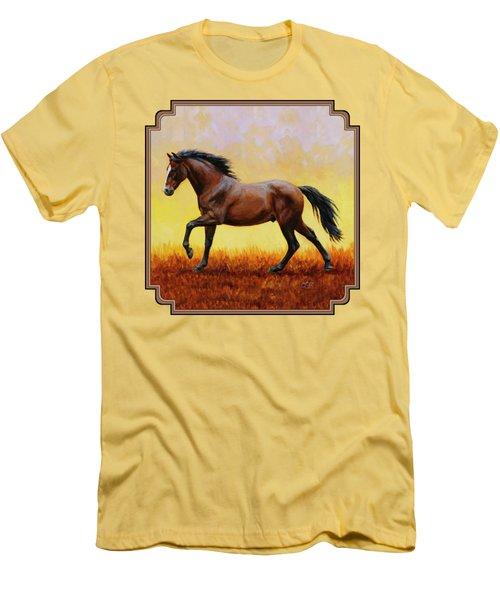 Midnight Sun Men's T-Shirt (Slim Fit) by Crista Forest