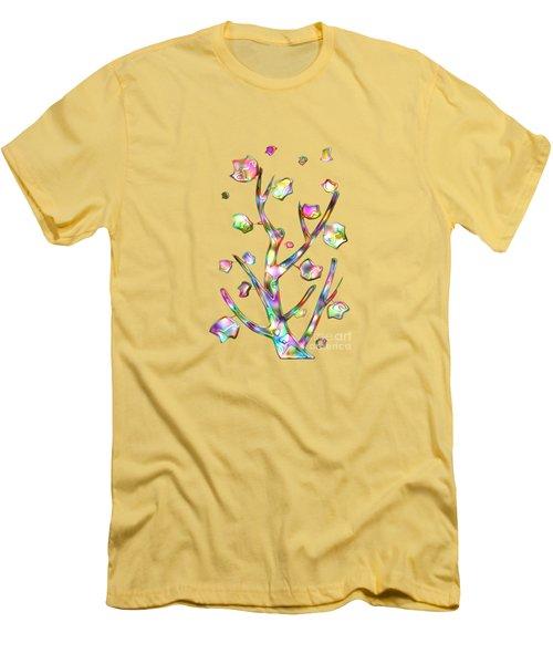 Rainbow Tree Men's T-Shirt (Slim Fit) by Anastasiya Malakhova
