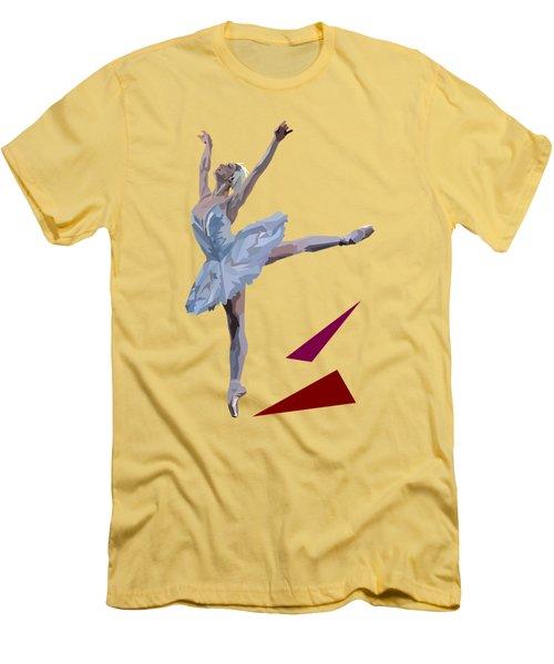 Ballerina Dancing Swan Lake Men's T-Shirt (Slim Fit) by James Bryson