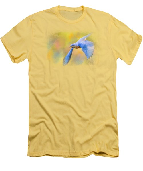 Bluebird Spring Flight Men's T-Shirt (Slim Fit) by Jai Johnson
