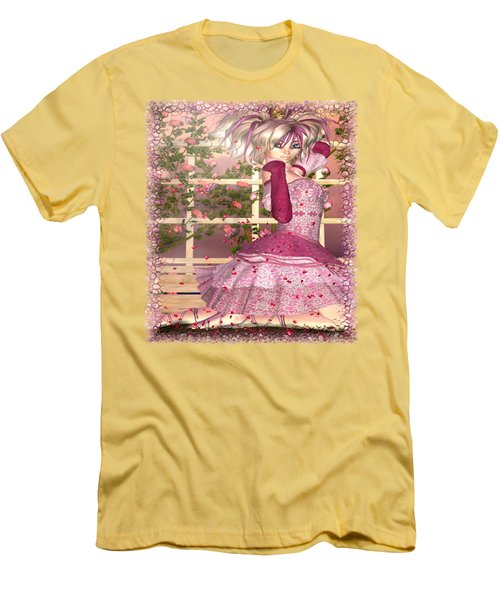 Breath Of Rose Fantasy Elf Men's T-Shirt (Slim Fit) by Sharon and Renee Lozen