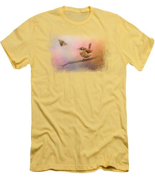 Carolina Wrens Men's T-Shirt (Slim Fit) by Jai Johnson