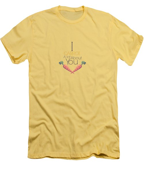 Carrot About You Men's T-Shirt (Slim Fit) by Lunar Harvest Designs